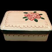 Stangl Pottery ~ Trinket / Cigarette Box ~ Terra Rose ~ Mountain Laurel