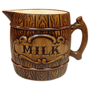 Treasure Craft U.S.A. ~ Barrel Pattern ~ Milk Pitcher ~ 1957