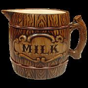 Treasure Craft U.S.A. ~ Barrel Pattern ~ Milk Pitcher ~ 1957