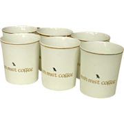 Royal Tara, Fine Bone China, Galway, Ireland ~ 6 Irish Coffee Cups