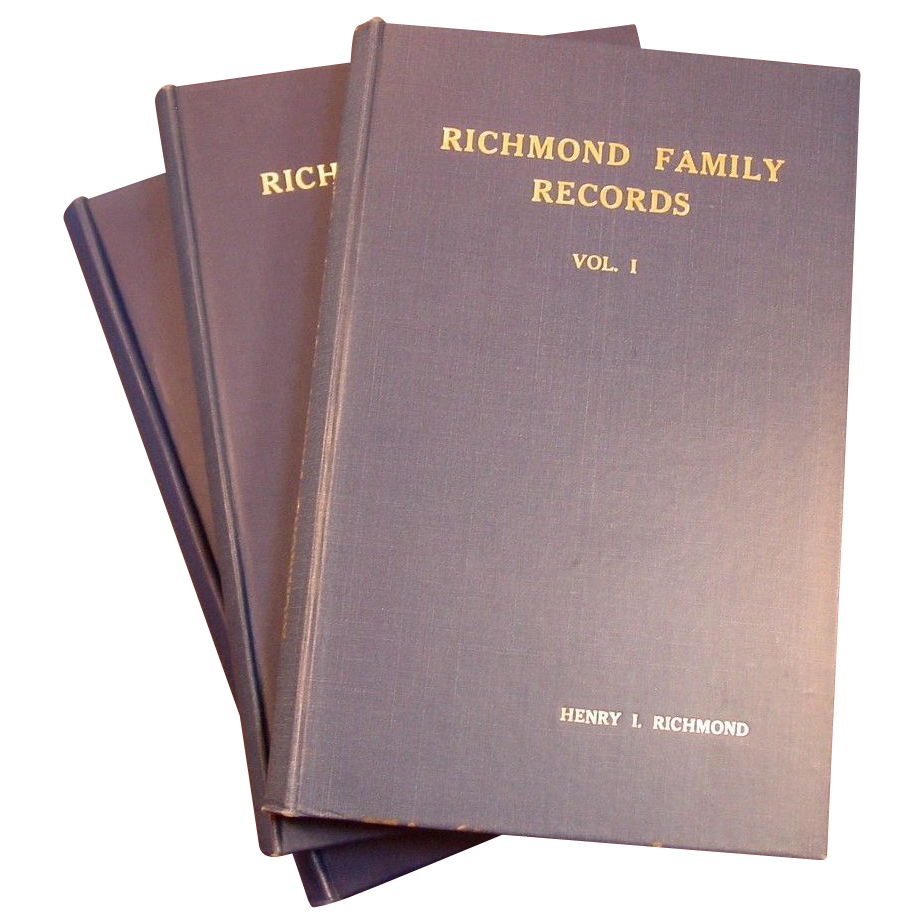 Richmond Family Records, 3 Vols., H. L. Richmond - First Editions
