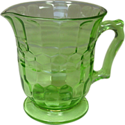 Hazel Atlas Glass Company ~ Depression Green Pitcher ~ Colony