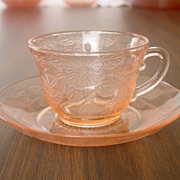 MacBeth-Evans ~ Dogwood pattern ~ Cup & Saucer ~ Pink