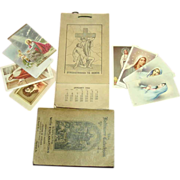 Catholic Collection ~ Memorial Cards, 1936 Calendar, 1911 Catechism Book
