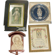 Catholic Collection ~ Four Wall Hangings ~ Jesus, Mother Mary