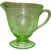 Hazel-Atlas Glass ~ Royal Lace Pattern ~ Creamer, Green