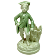 Circa 1862 Royal Worcester Porcelain Figural Toothpick Holder