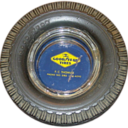 Good Year Tires Advertising Ashtray, Super Cushion Tire