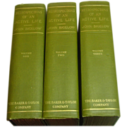 Retrospections of an Active Life, Bigelow, 3 Vols., 1909, First