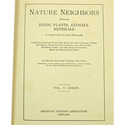 Nature Neighbors, Vol. V - Birds, 1914, Audubon, Illustrated
