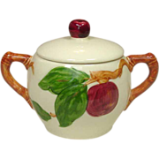 Franciscan China, Apple Pattern, Covered Sugar, Made in California