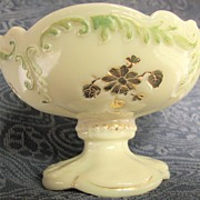 Northwood Intaglio, custard glass berry, sauce bowl, eapg
