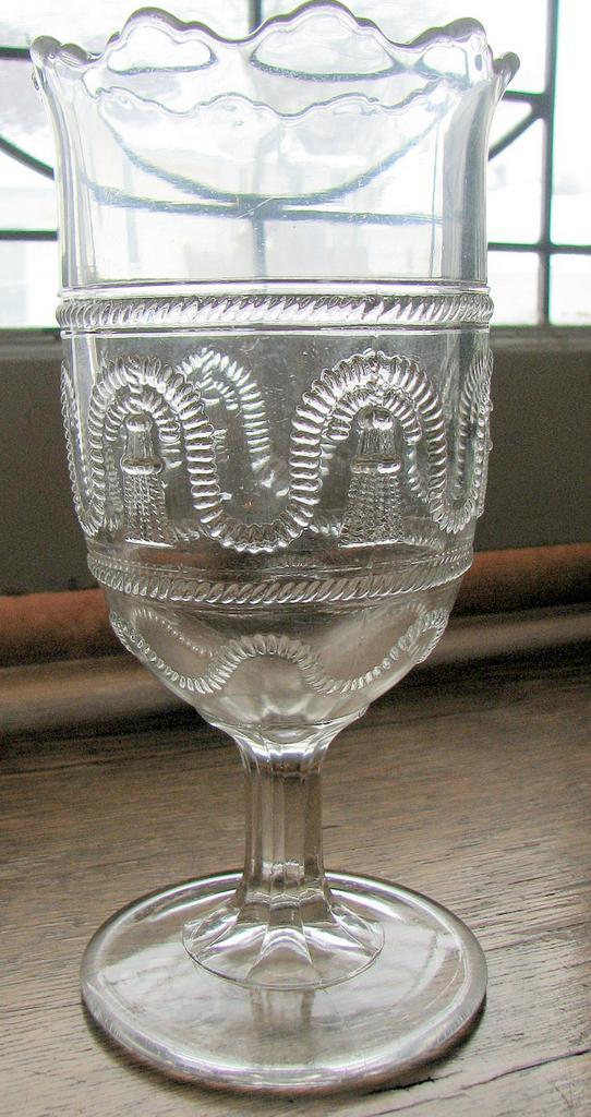 Eapg, Pattern glass, 'Cord & Tassel'  Victorian Celery vase