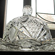 Eapg U.S. Glass Butter dish, 'Pennsylvania' or 'Balder' pattern