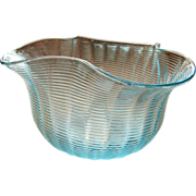 Victorian art glass, Blue antiQue finger bowl