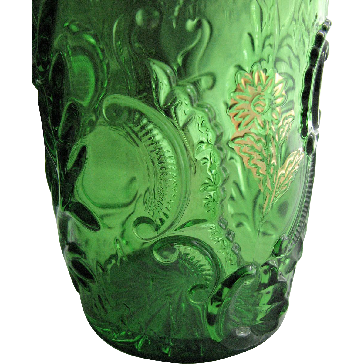 Northwood Glass, Eapg Emerald green 'Louis XV' tumbler