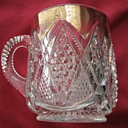 Eapg 'Minnesota' pattern glass mug / cup