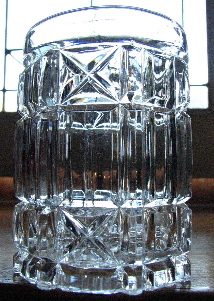 Column Block, Panel & Star, O'hara Glass Co. spooner, tumbler