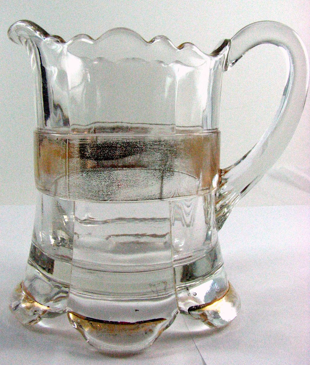 Eapg Riverside Glass, Ranson, Gold Band creamer