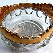 Eapg Adams Glass 'Kings Crown' sauce, berry bowl