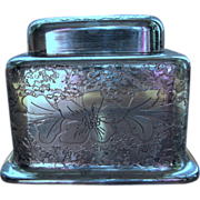 Inkwell, antique silverplate Oldenbusch Ink well