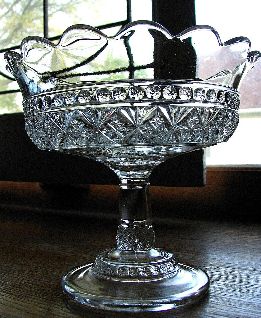 Eapg Melrose pattern, Victorian Glass Jelly compote