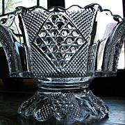 Eapg Fostoria Carmen pattern Victorian glass compote bowl