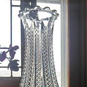 "Eapg Mardi Gras pattern, rare antique bulbous 10"" vase, Duncan Miller"