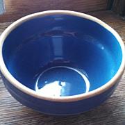 Vintage stoneware pottery bowl, blue
