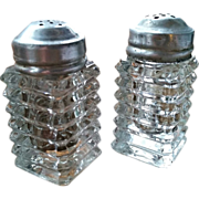 Manhattan Depression glass salt & pepper shaker set, Anchor Hocking