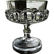 """Victorian glass, Doyle """"Eyebrows"""" pattern compote, """"Pressed Block"""""""