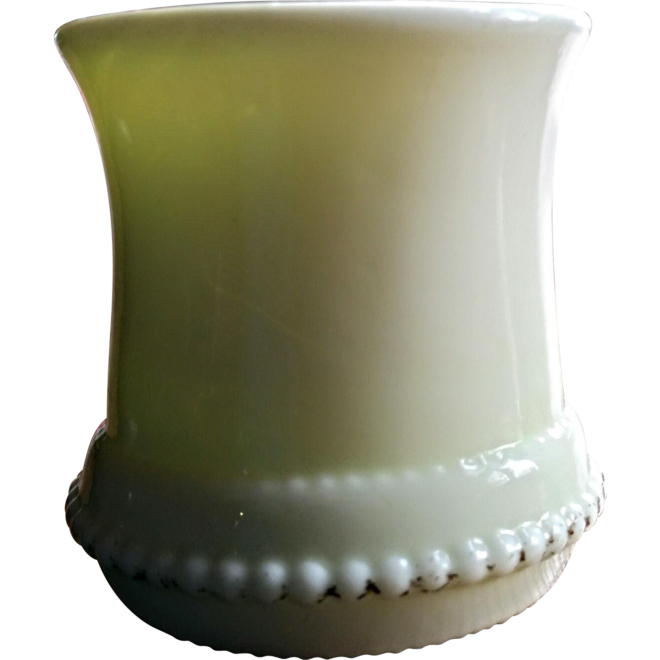 'Washington, Late' eapg pattern toothpick, custard, U.S. Glass Co. States series