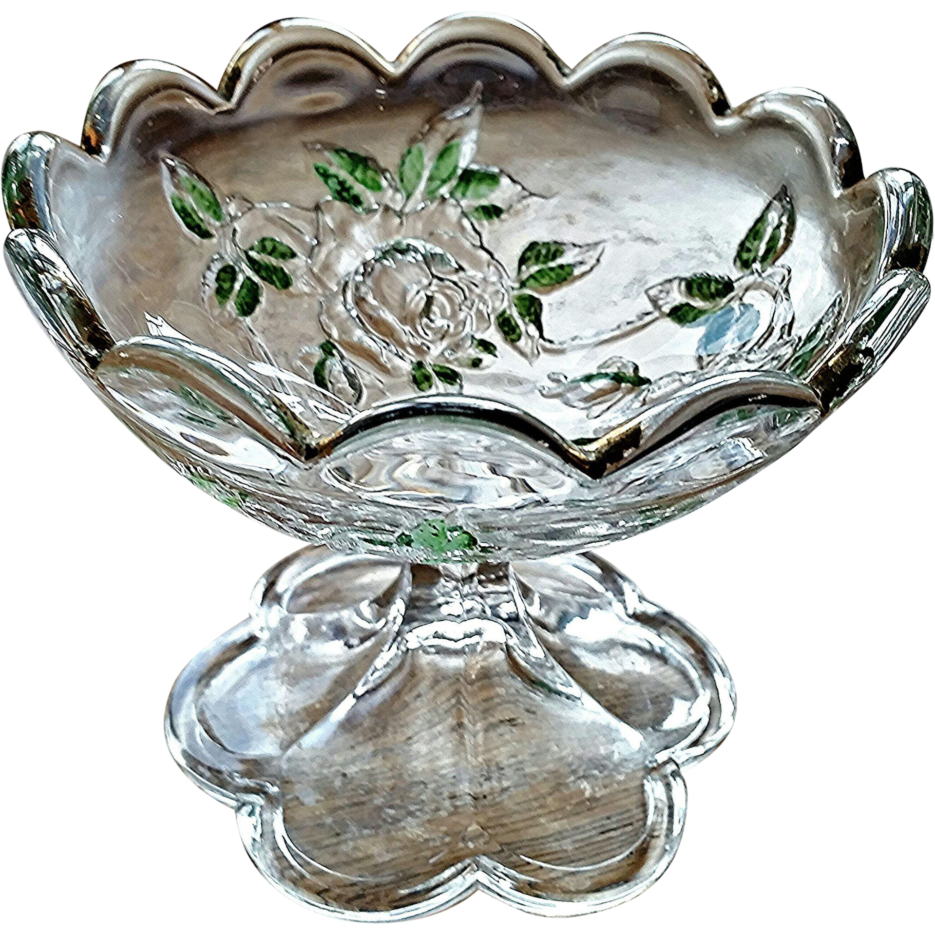 Open Rose, Moss Rose, eapg, 1870's jelly compote
