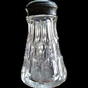 Sawtooth Honeycomb eapg salt shaker, Stiemer Glass Company, 1906