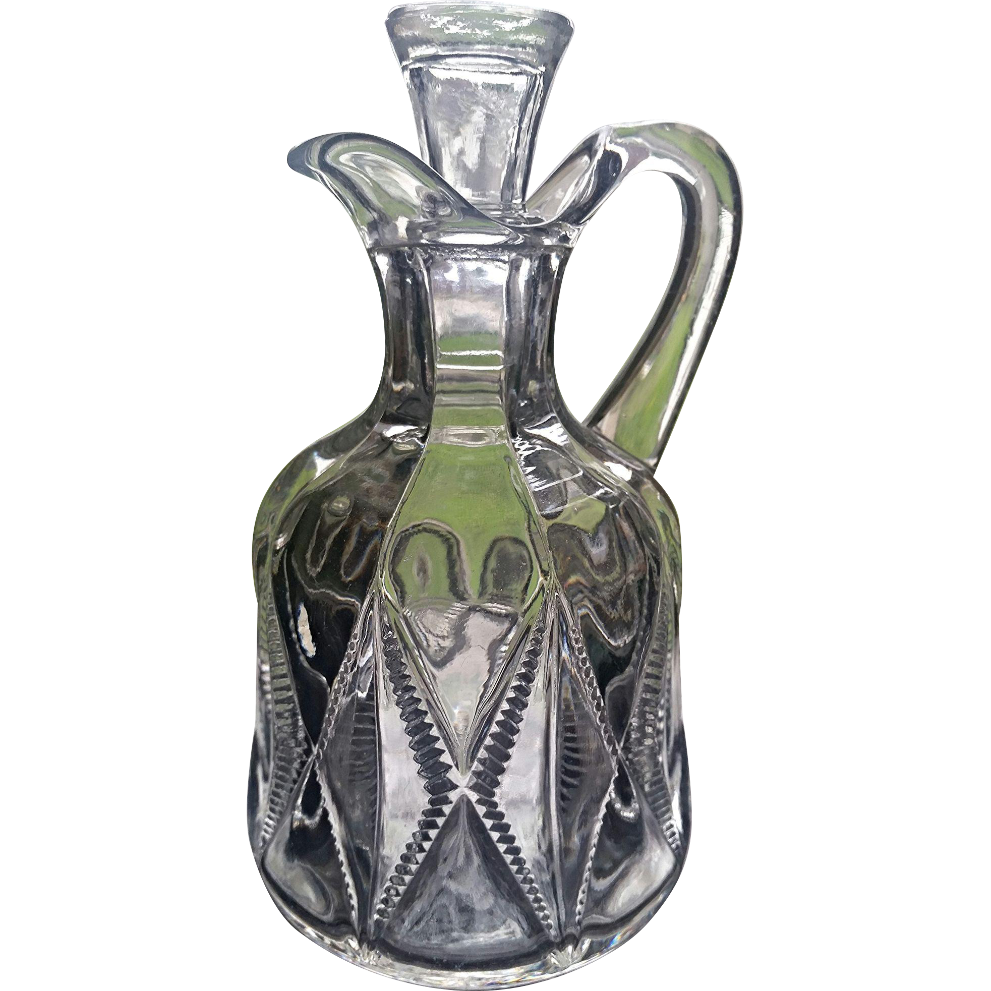 20th Twentieth Century pattern cruet, Co-operative Flint Glass, Ward's New Era