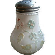 Victorian sugar shaker, Decorated milk glass