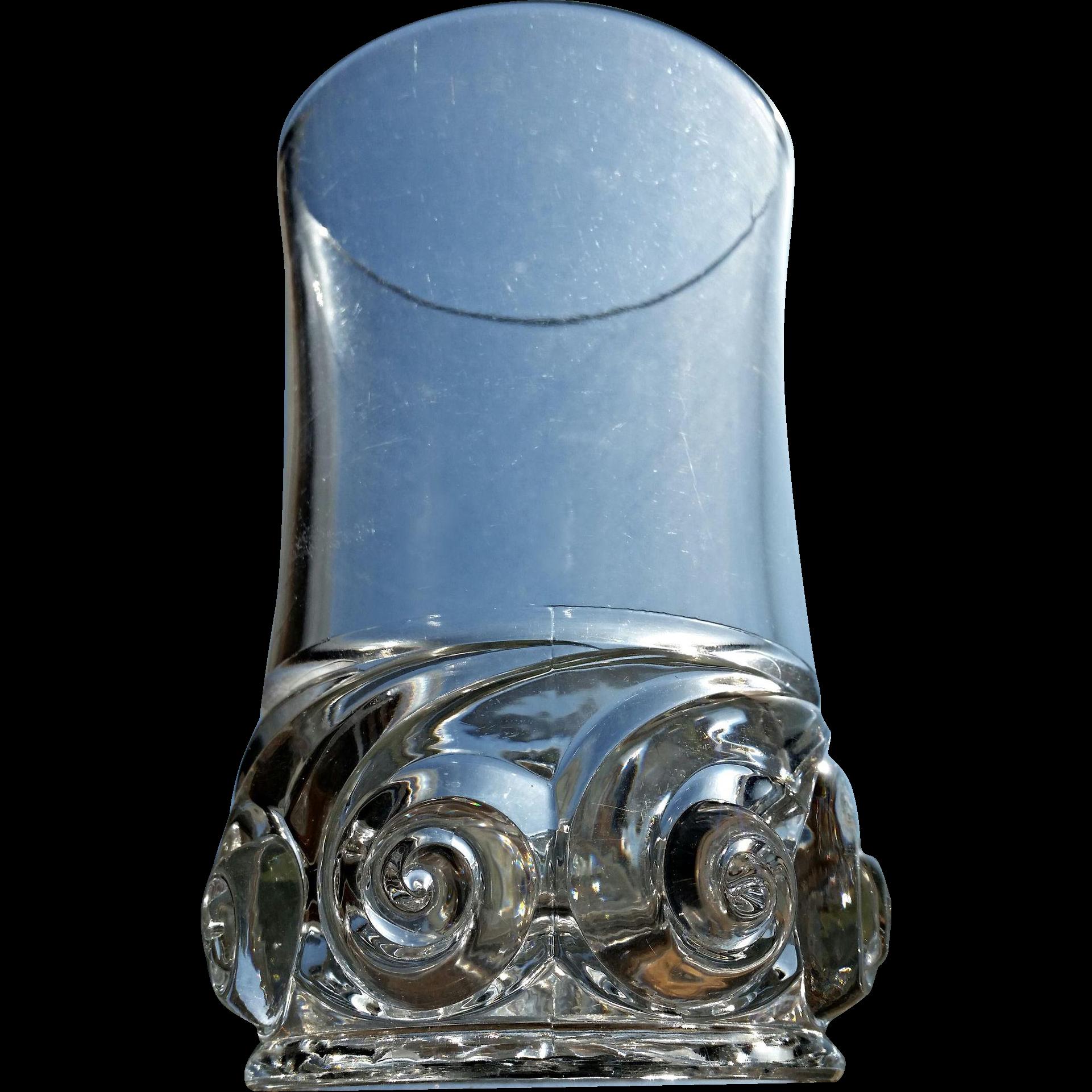 Snail, Idaho pattern glass celery vase, Duncan