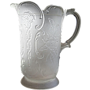 Sultan pattern, 'Wildrose & Bowknot' water pitcher, McKee Glass