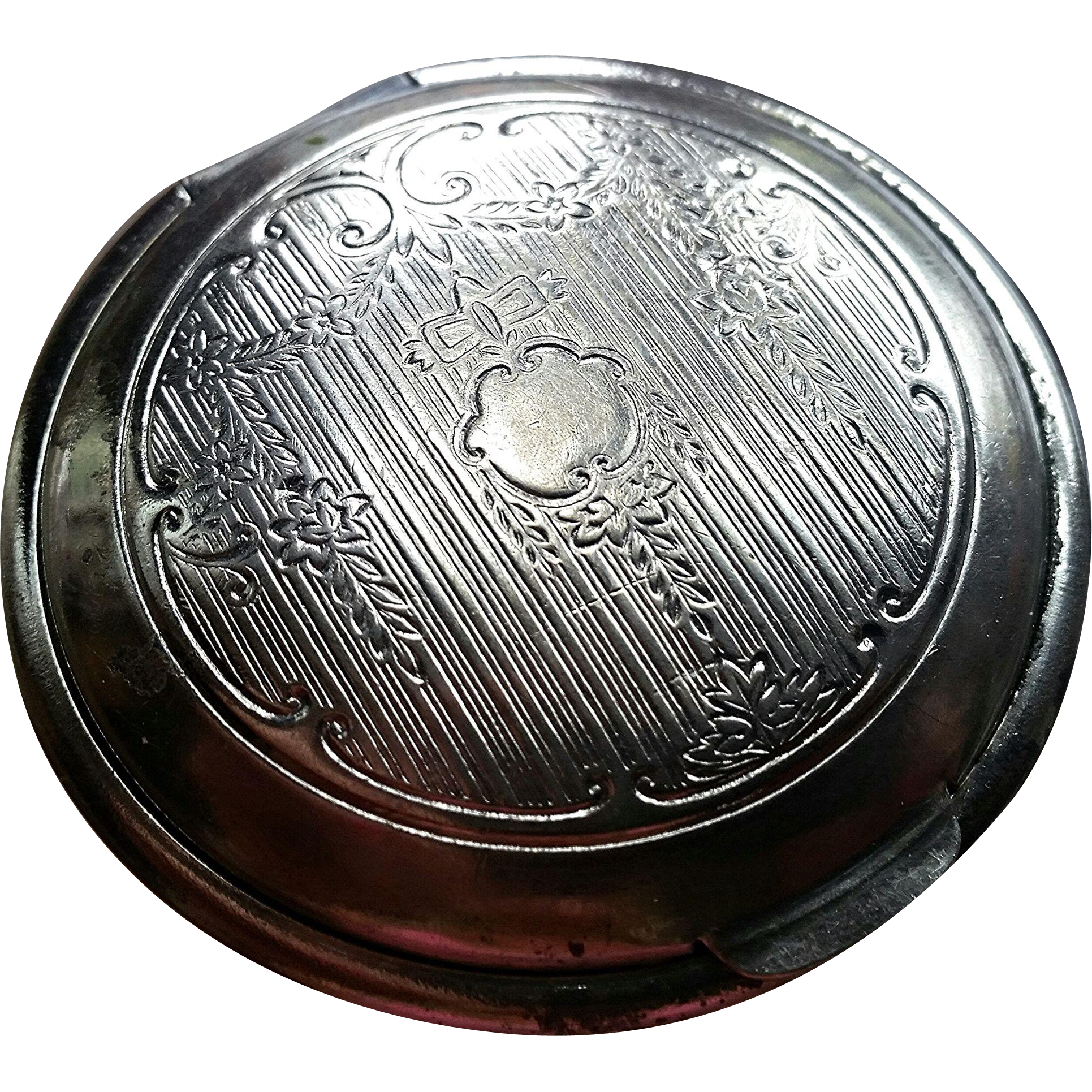 Elmo cosmetics, Art Deco powder compact, vintage