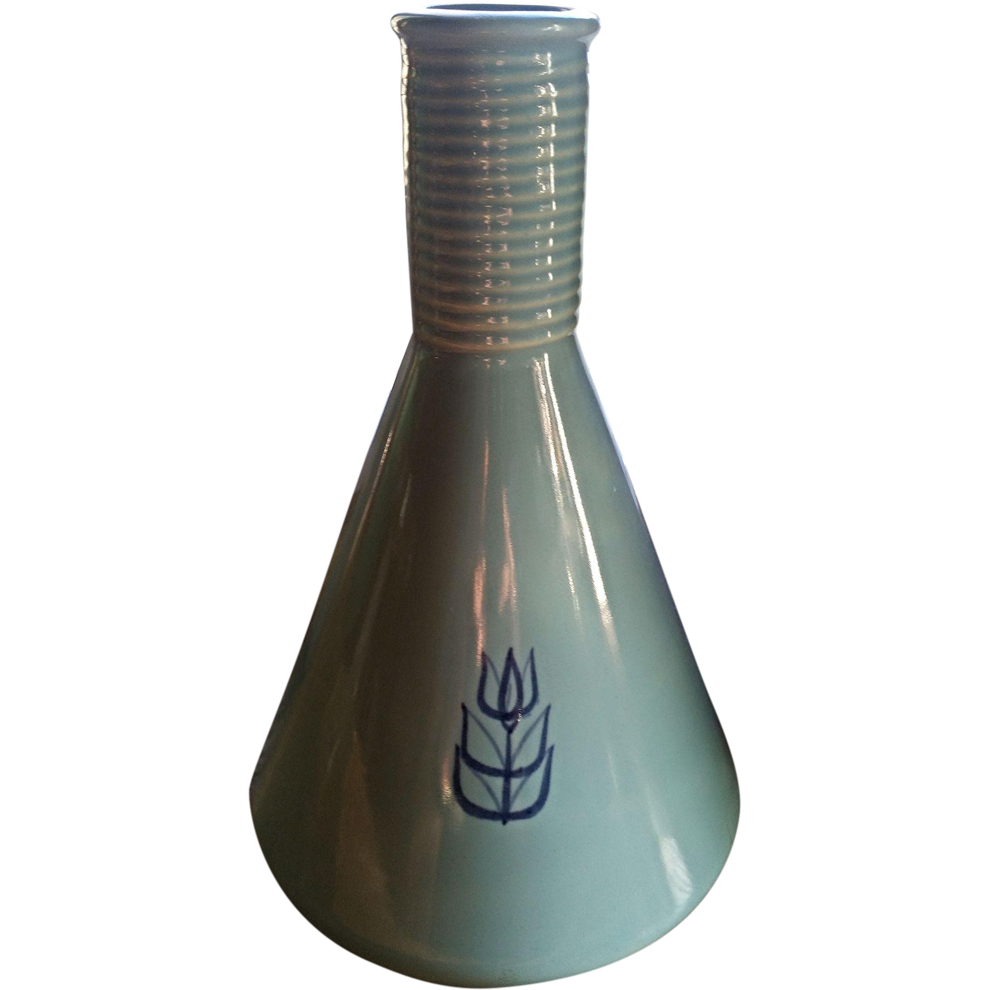 Cronin blue tulip carafe, Cameron Clay Products