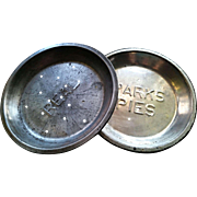 Vintage advertising pie tins, Parks pies, Real