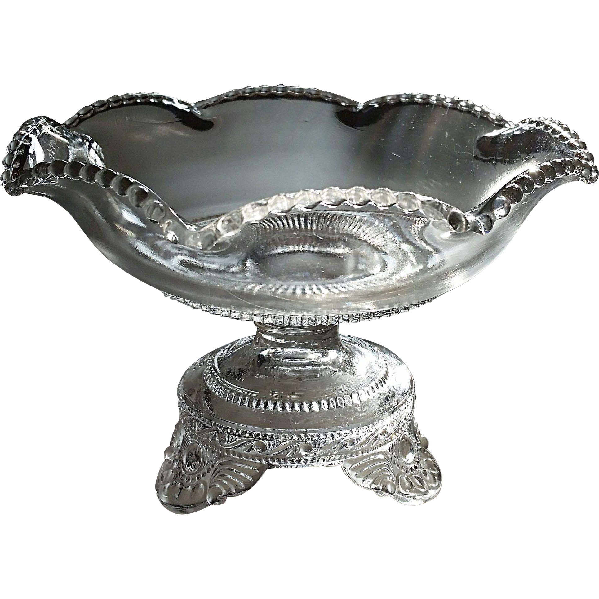 """Colorado"", ""Jewel"", ""Lacy Medallion"" U.S. Glass jelly compote"