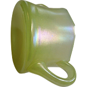 Stretch glass sugar, U.S. Glass Co., iridescent yellow