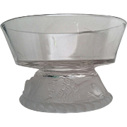 Frosted Lion, Gillinder Glass, berry bowl