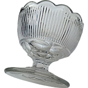 """Fine Rib"" flint master salt, New England Glass, ""Reeded"""