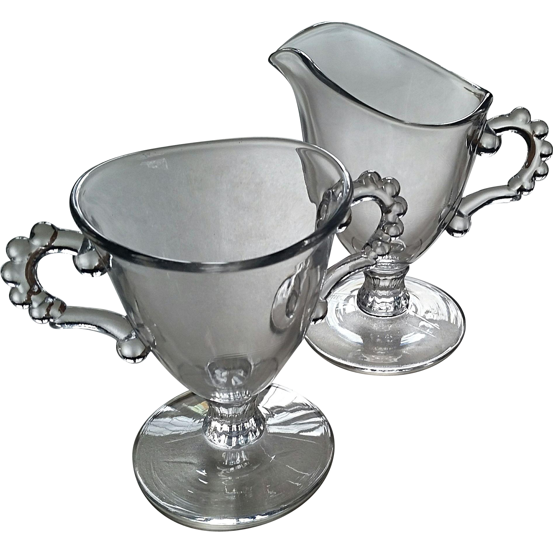 Candlewick sugar/creamer set, Imperial Glass