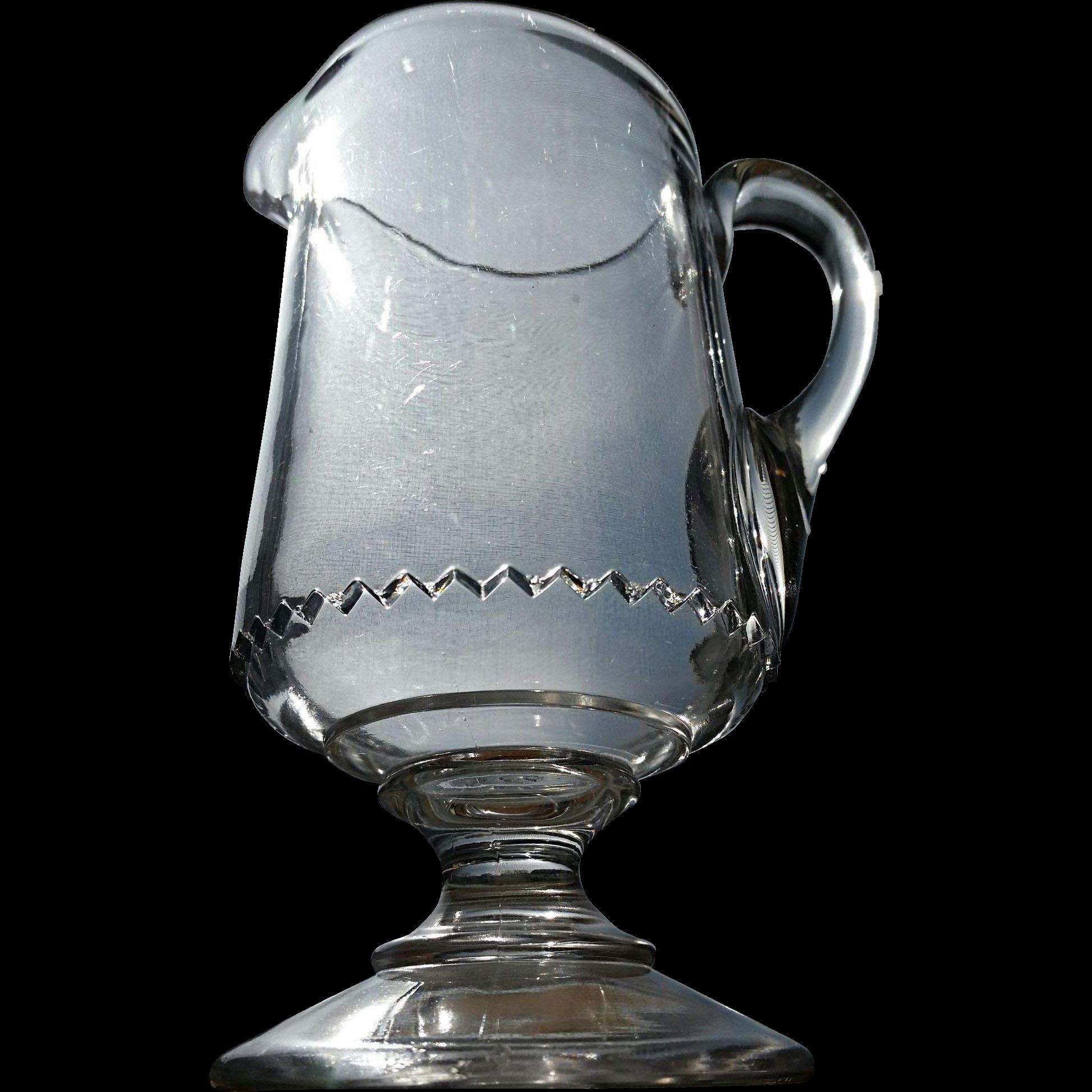"""Saxon"" pattern, Adam's Glass, cream pitcher"