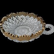 """Fostoria """"Sylvan"""" """"Overall Diamond"""" eapg nappy bowl"""