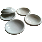 Ironstone china, butter pats, set of 5