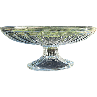 "Heisey ""Narrow Flute"" banana split ice cream dish, Depression glass"